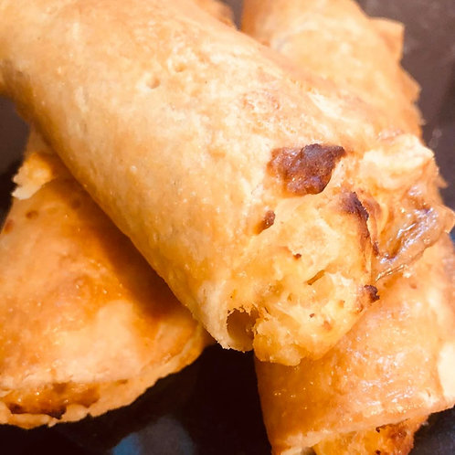 Potato, Cheese and Caramelised Onion Pastry Roll