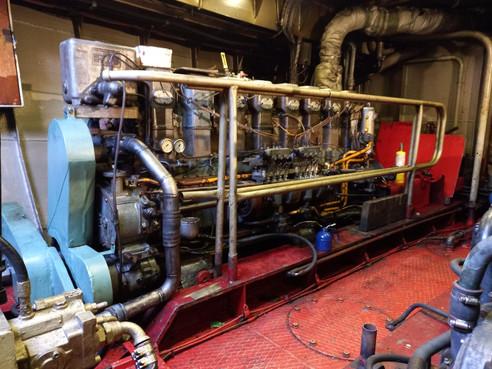 Tug boat engine