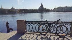 Saint Isaac's Cathedral and bike