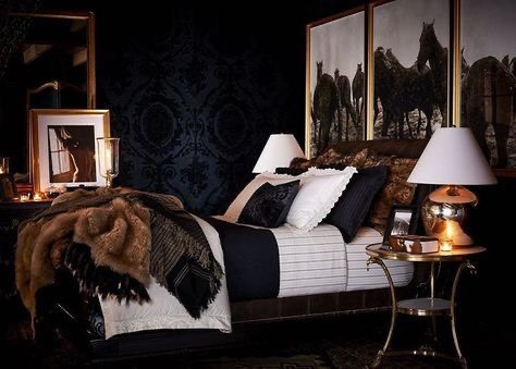 A romantic classical master bedroom