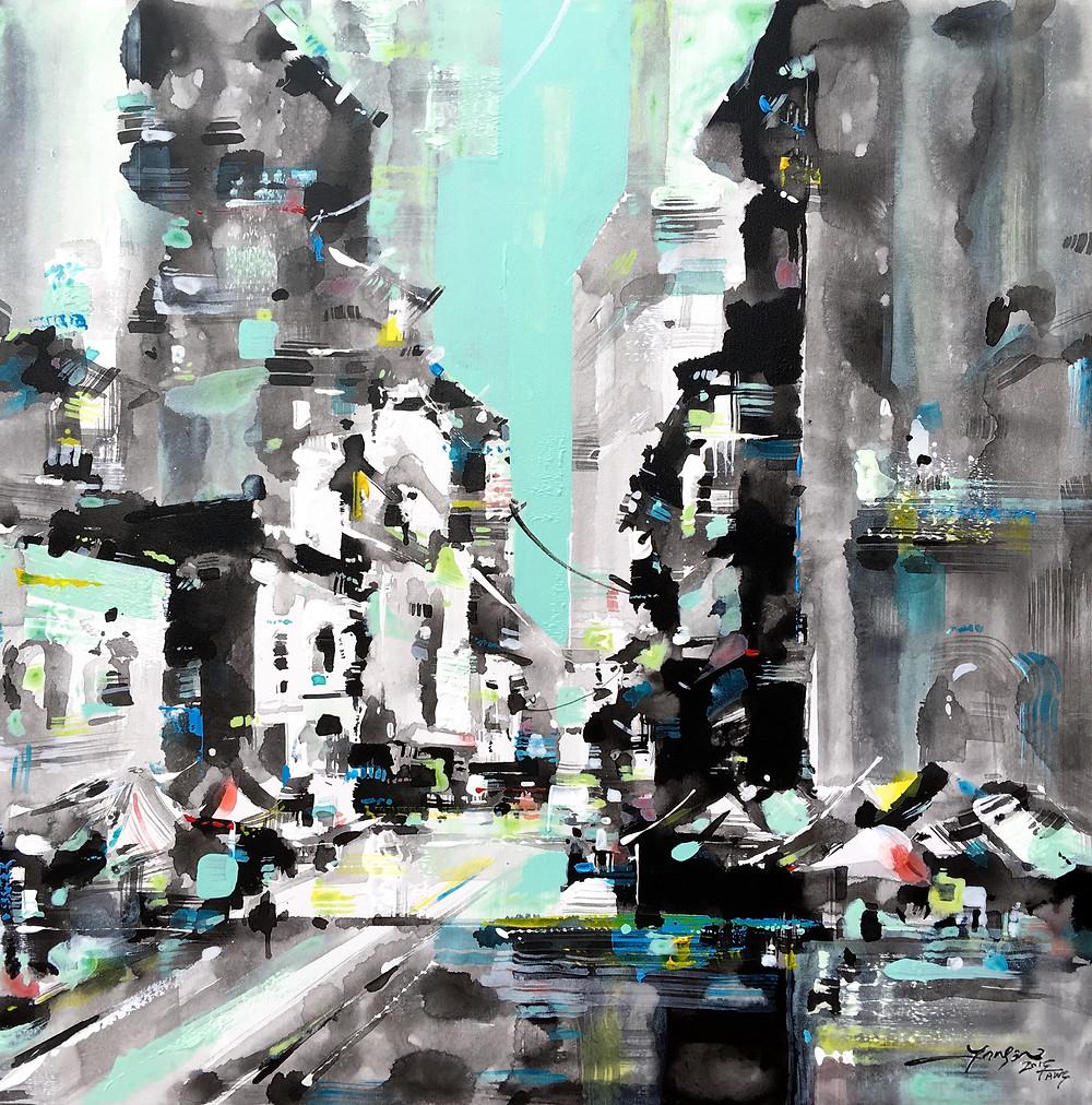 A+ Project_Jansen Chow_'City Impression 2015 #6'_91 x 91 cm
