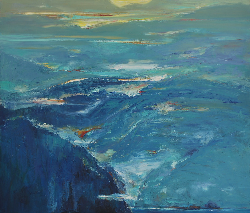 7 - 谢有锡 Cheah Yew Saik, Mountain Song Series, Oil on canvas, 89x104cm, 2008