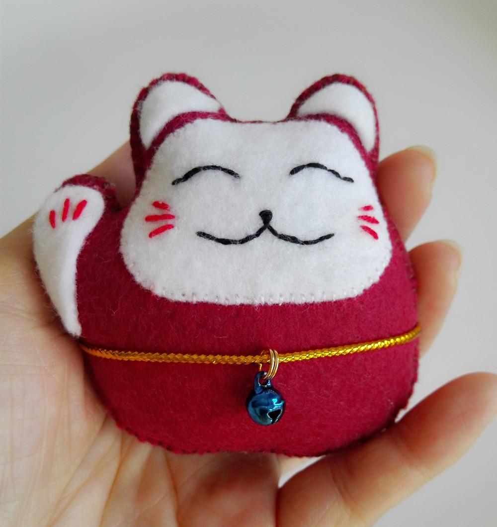 手织招财猫