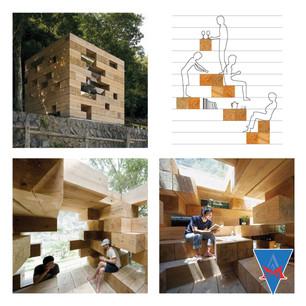 Wooden House by Sou Fujimoto