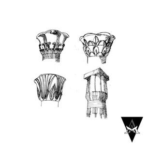 TRAVEL SKETCHES | Four Egyptian columns