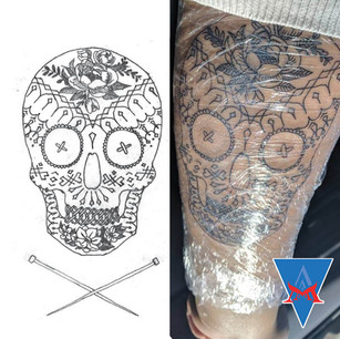 TATTOO | SEWING CANDY SKULL