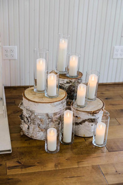 Flicker candles in cylinders