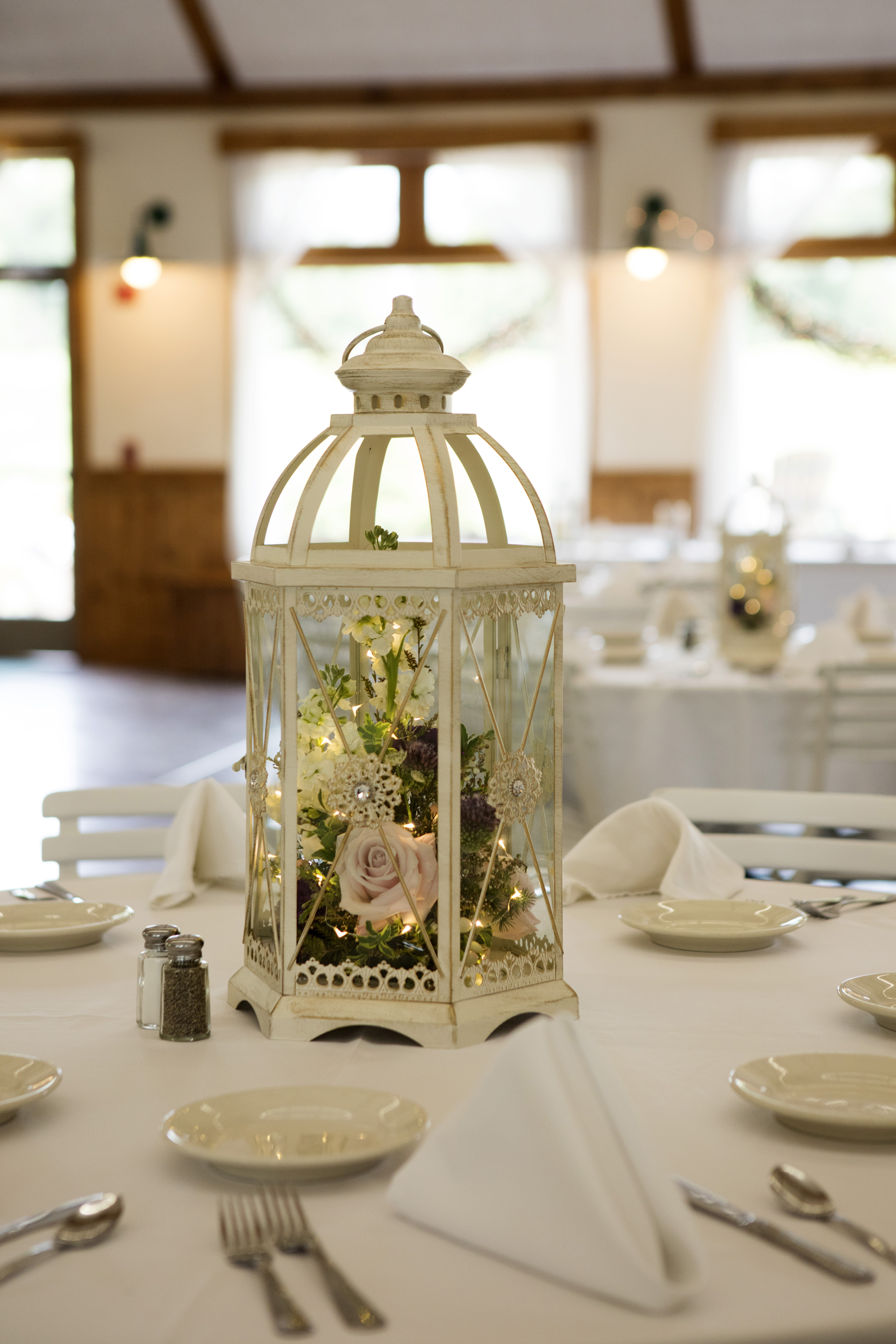 Cream jeweled Lantern