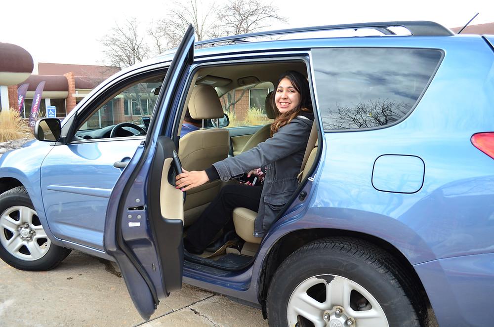 Yesika Rebles takes an Uber