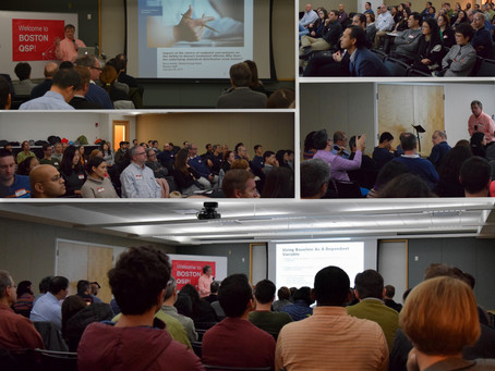 What a turnout we had at the 3rd Boston QSP event!