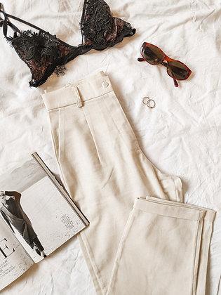 Louvre Pants / Raw linen / talla L