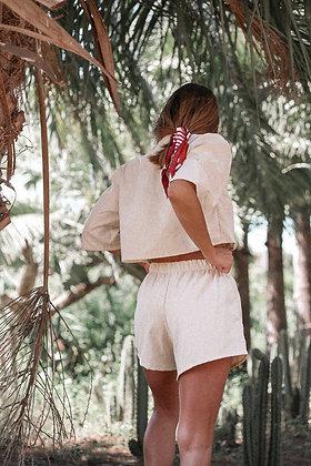Linen shorts / Creamy