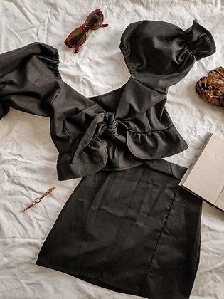 Linen mini / Black is black