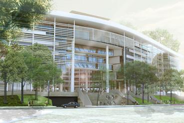 Mención en Concurso Nuevos Edificios para el Distrito GCBA / Frangella-Del Puerto-Sardin-Berson-Castro-Dimaio-Cohen-Kandus-Vazquez-Fernandez Navarro