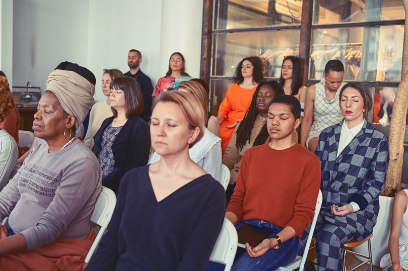 Audience in meditation