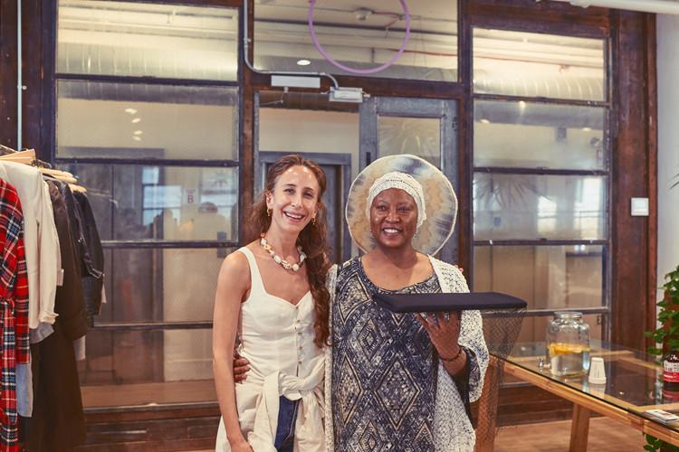 Mara Hoffman with Marsha France, graduate of Custom Collaborative Training Institute