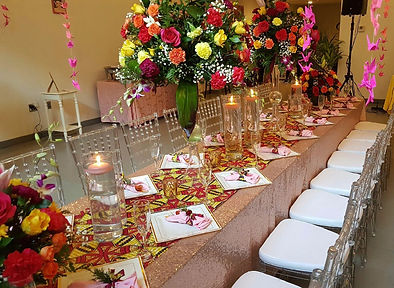 Birthday Brunch table setup floral arrangements candles