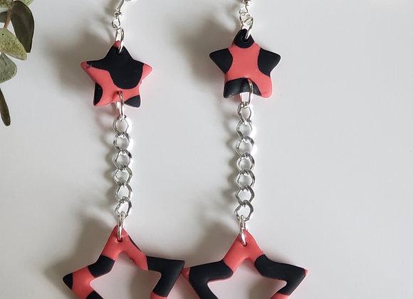 Strawberry Star Earrings