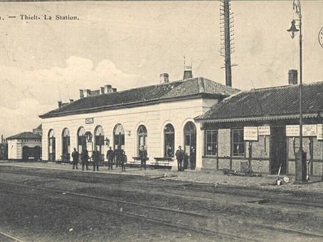 Een treinongeval in het station van Tielt