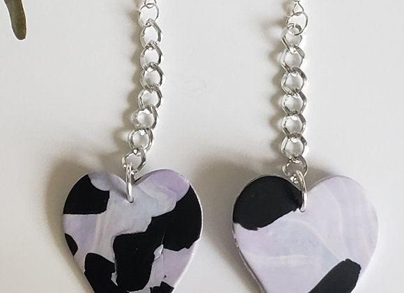Ombre Hearts with chain