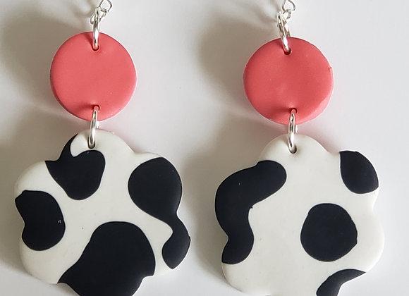 Strawberry Daisy Earrings