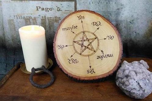 Spirit Board: Featuring a pentagram