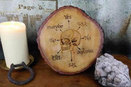 Spirit Board: Featuring a skull