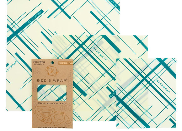 BEE´S WRAP 3er Set - Geometric Print -