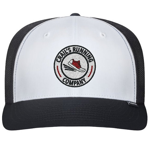 Flexfit Trucker Caps - One Size Black White Black