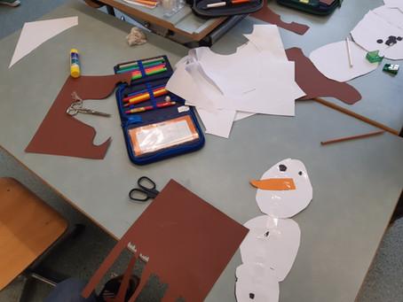 Winter in der Klasse 1a