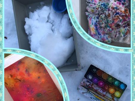 Der Kindergarten Grüntal geniesst den Schnee in vollen Zügen!