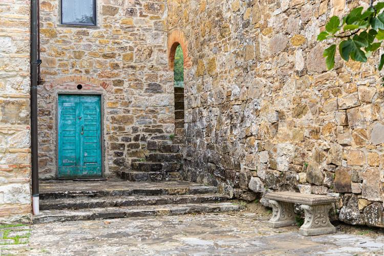 The shady courtyard