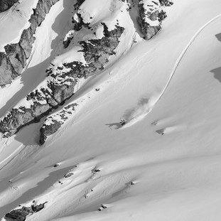 Downhill skiing in Verbier