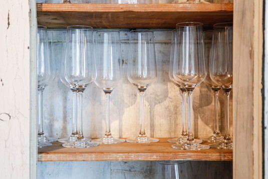 Glasses cupboard