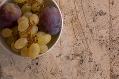 Marble table top and grapes