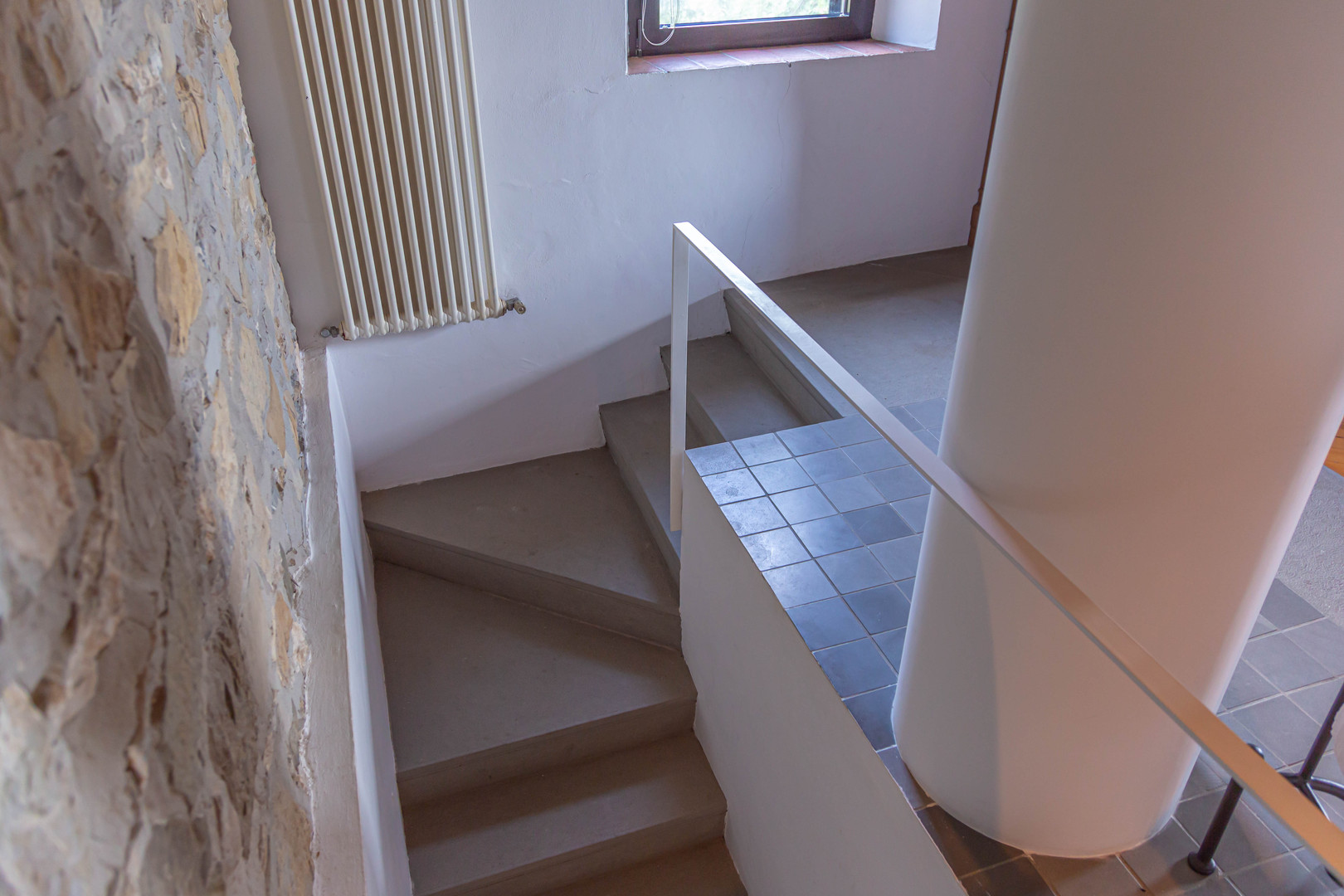 Staircase from living room to bedroom two