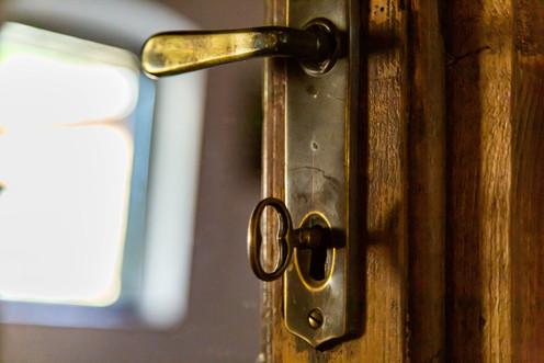 Bathroom door handle
