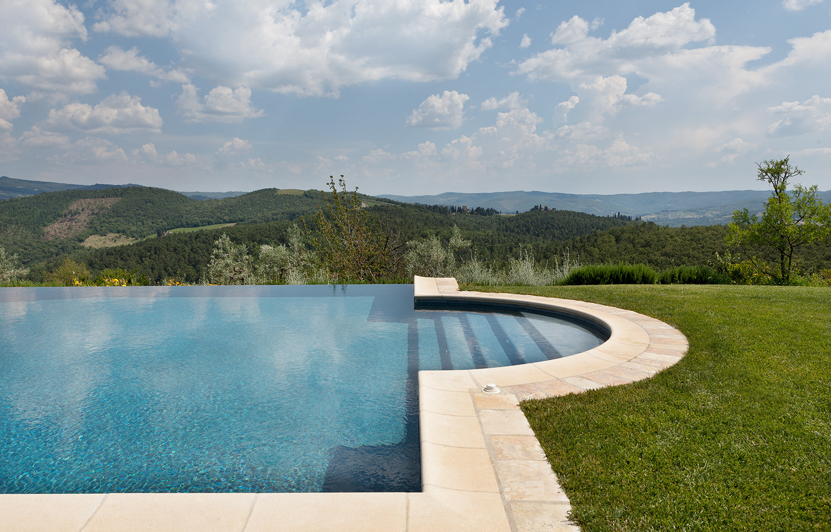 Pool facing south