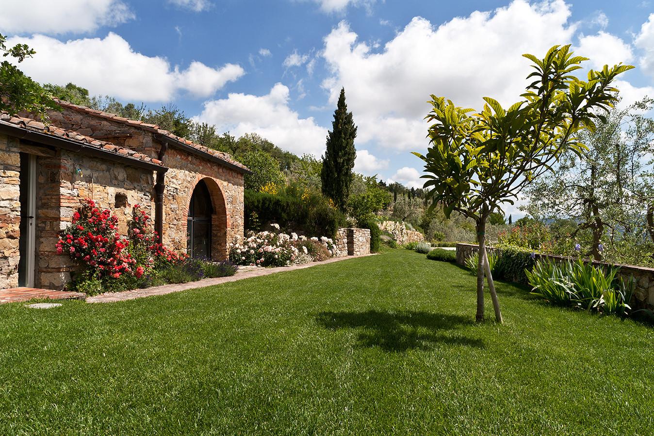 Annexe and garden looking east