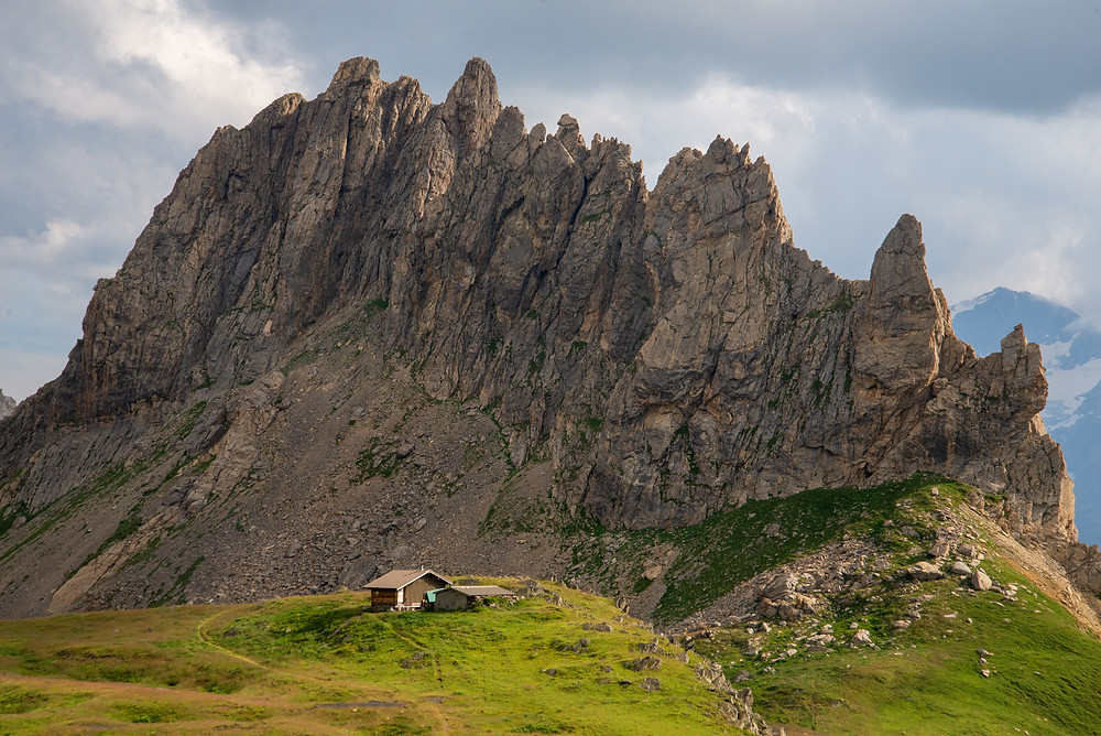 A refuge in the mountains of the Alps of France.