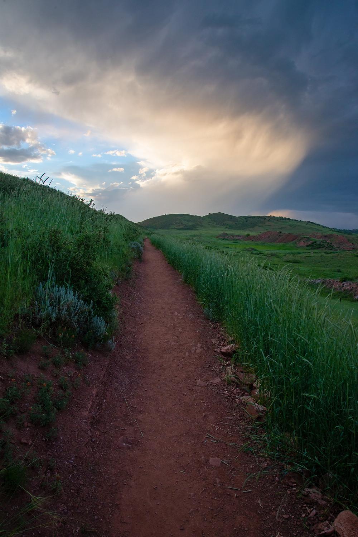 A trail at Devils Backbone in Colorado.