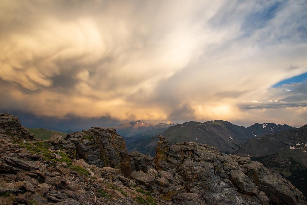 Longs Peak in Rocky Mountain National Park in Colorado.