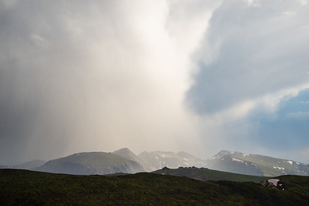 Thunderstorm in Rocky Mountain National Park in Colorado.