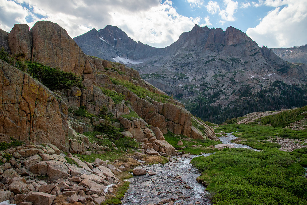 McHenrys Peak in Rocky Mountain National Park in Colorado
