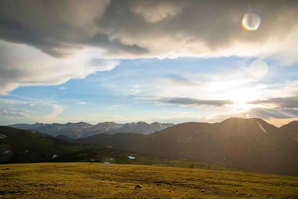 Trail Ridge in Rocky Mountain National Park in Colorado.