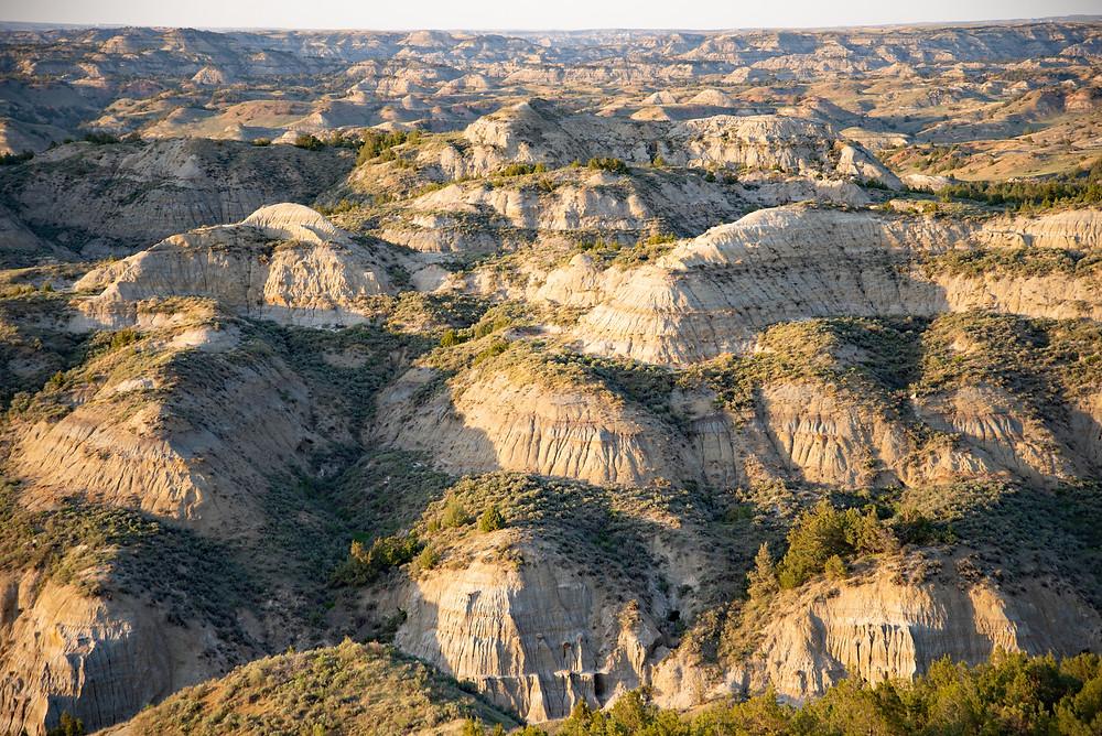 Badlands in Theodore Roosevelt National Park in North Dakota.