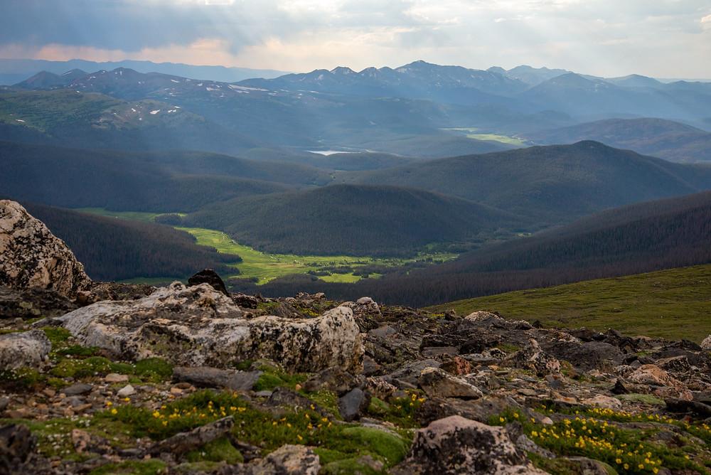 Mountains in Rocky Mountain National Park in Colorado.