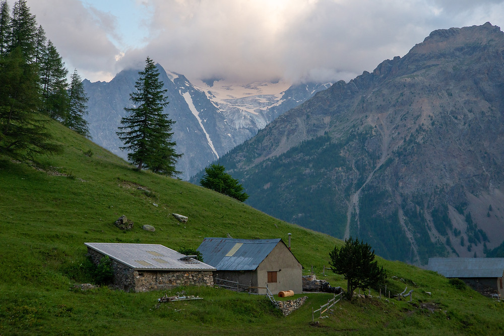 A farm in the Alps of France.
