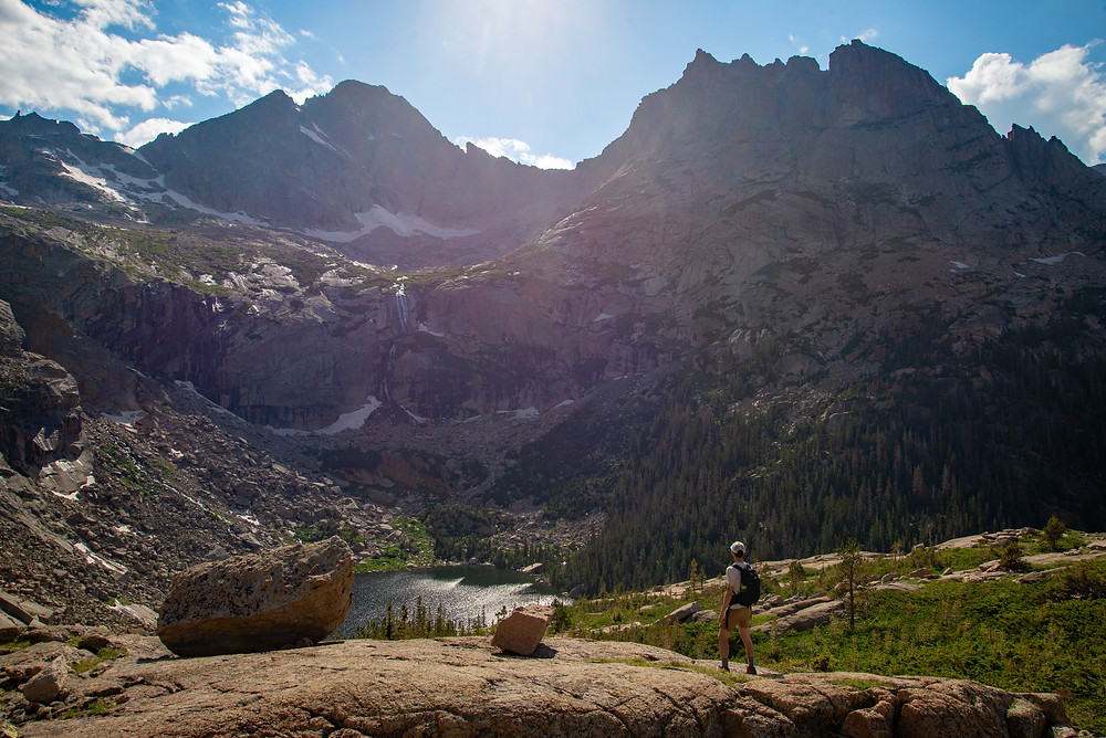 Black Lake in Rocky Mountain National Park in Colorado