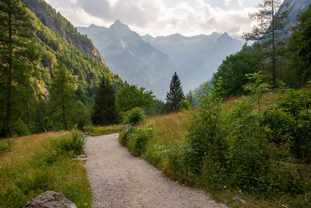 Mountains in Val di Mello Italy.